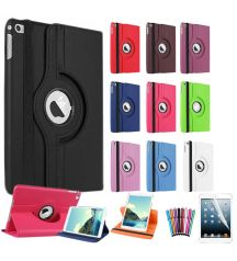 Apple iPad Mini Luxury Leather Texture 360 Rotating Fold Stand Smart Case Cover