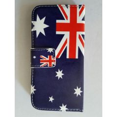 Leather Australia Flag Wallet Case for HTC One M9