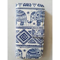 Leather Elephant Wallet Case for iPhone 4 & 4S
